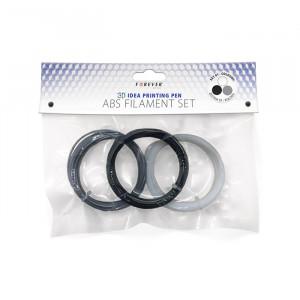 Σετ Νημάτων ABS/PLA 1.75mm - Μαύρο / Γκρι / Άσπρο