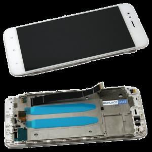 Οθόνη LCD με Touch Panel και Mid-Frame για Xiaomi Mi A1 - Άσπρο