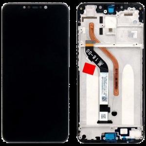 Οθόνη LCD με Touch Panel και Mid-Frame για Xiaomi Pocophone F1 - Μαύρο