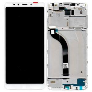 Οθόνη LCD με Touch Panel και Mid-Frame για Xiaomi Redmi 5 - Άσπρο
