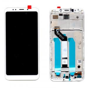 Οθόνη LCD με Touch Panel και Mid-Frame για Xiaomi Redmi 5 Plus - Άσπρο
