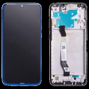 Οθόνη LCD με Touch Panel και Mid-Frame για Xiaomi Redmi Note 8 - Μπλε