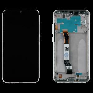 Οθόνη LCD με Touch Panel και Mid-Frame για Xiaomi Redmi Note 8 - Ασημί