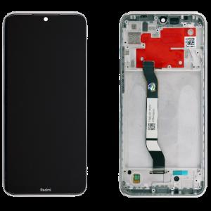 Γνήσια Οθόνη LCD με Touch Panel και Mid-Frame για Xiaomi Redmi Note 8T - Λευκό
