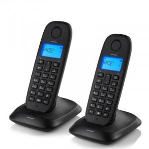 Ασύρματο Σταθερό Τηλέφωνο TopCom TE5732 (πακέτο των 2) - Μαύρο