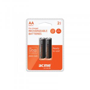 Μπαταρίες Επαναφορτιζόμενες NiMH Acme R06 2600mAh AA (2 pcs)