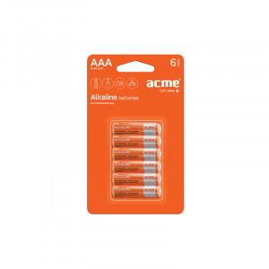 Μπαταρία Αλκαλική Acme LR03 AAA (6 pcs)