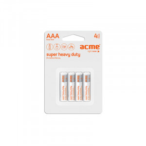 Μπαταρία Acme Super Heavy Duty R03P AAA (4 pcs)