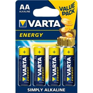 Μπαταρία Αλκαλική VARTA R6 (4pcs) AA Energy