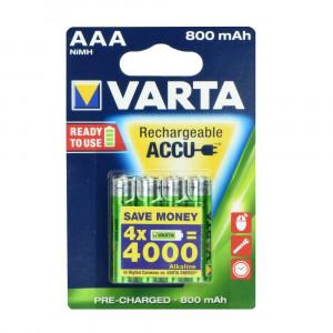 Μπαταρίες Επαναφορτιζόμενες Ni-MH VARTA R3 800mAh AAA