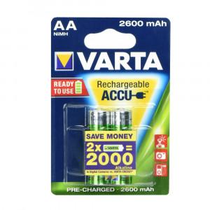 Μπαταρίες Επαναφορτιζόμενες Ni-MH VARTA R6 2600mAh AA