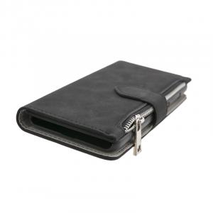 Θήκη Forcell Commodore 2 σε 1 Πορτοφόλι και Back Cover για Samsung Galaxy J3 (2017) - Μαύρο