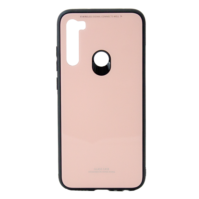 Θήκη Forcell Back Cover Glass για Xiaomi Redmi Note 8 - Ροζ