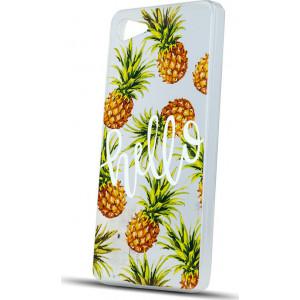 Θήκη Σιλικόνης Ultra Trendy με σχέδιο Pineapple για Huawei P Smart - Διάφανο