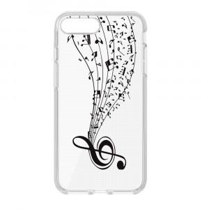 Θήκη Σιλικόνης Ultra Trendy με σχέδιο Music2 για iPhone 7/8 Plus - Διάφανο