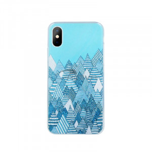 Θήκη Σιλικόνης Ultra Trendy με σχέδιο Winter1 για iPhone 7/8 Plus - Μπλε