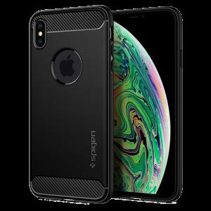 Θήκη Spigen Rugged Armor Back Cover για Apple iPhone XS MAX - Μαύρο