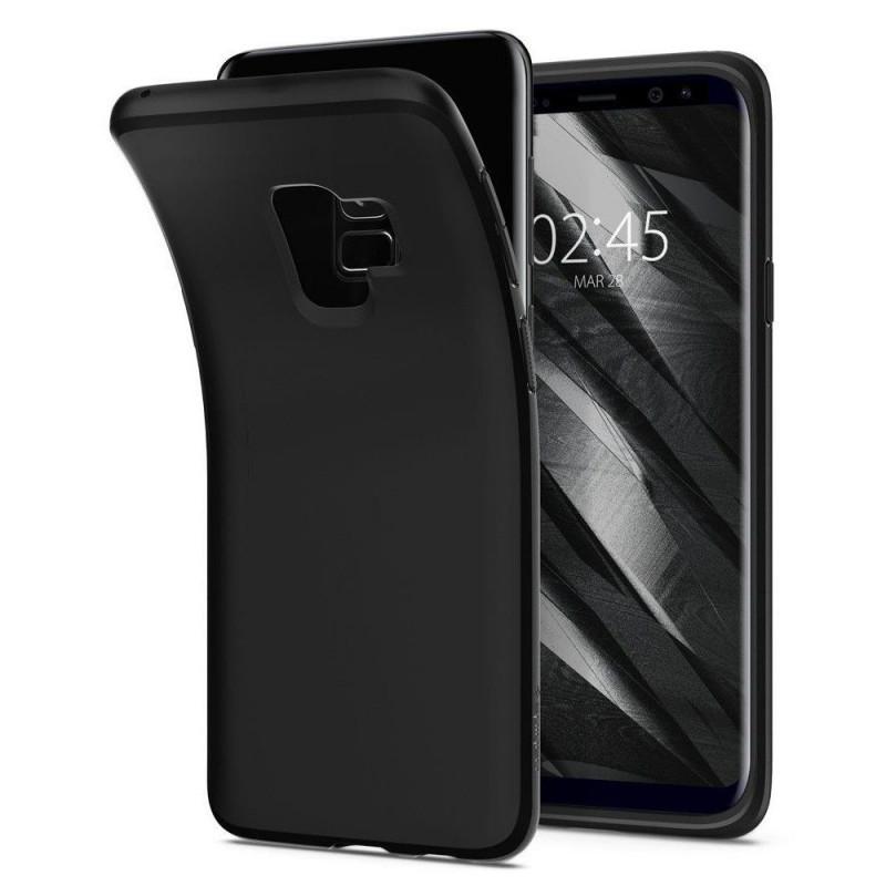 982b1852dc Θήκη Spigen Liquid Crystal για Samsung Galaxy S9 2018 - Matt Μαύρο