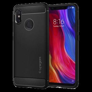 Θήκη Spigen Rugged Armor Back Cover για Xiaomi Mi 8 - Μαύρο
