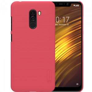 Θήκη Nillkin Frosted Shield Back Cover για Xiaomi Pocophone F1 - Κόκκινο