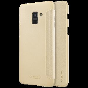 Θήκη Nillkin Sparkle Flip με Πορτάκι για Samsung Galaxy A8 2018 - Χρυσό