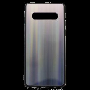 Θήκη Back Cover Aurora Glass για Samsung S10 - Καφέ / Μαύρο