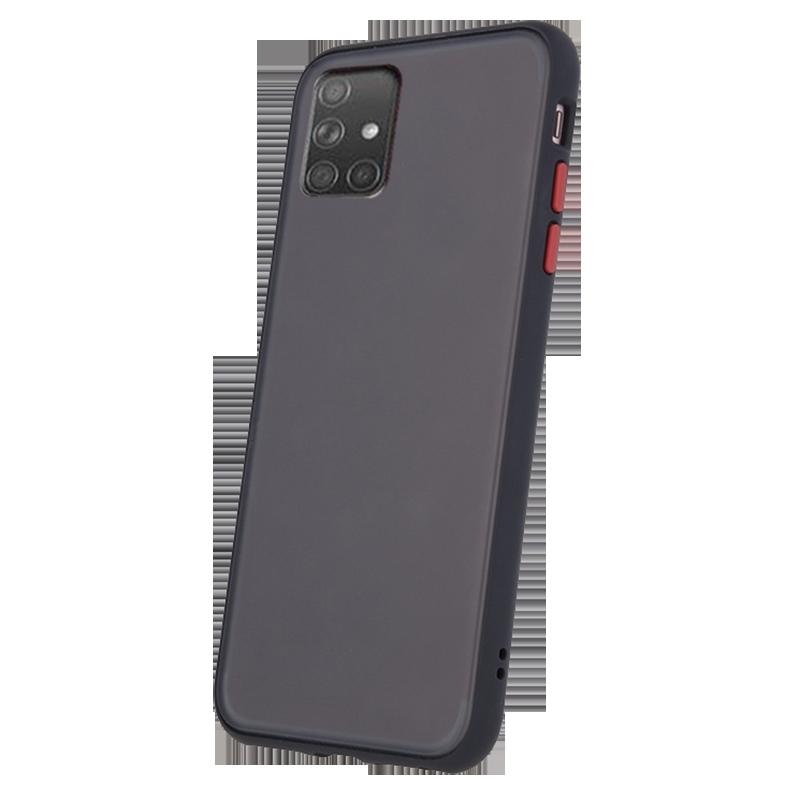 Θήκη Back Cover Colored Buttons για Samsung Galaxy A71 - Μαύρο