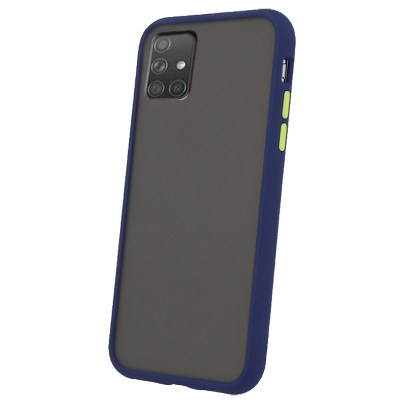 Θήκη Back Cover Colored Buttons για Samsung Galaxy A71 - Μπλε