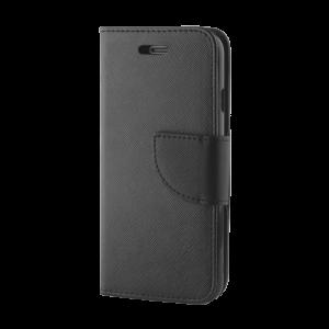 Θήκη Flip με Πορτάκι Fancy Book για Huawei P20 - Μαύρο