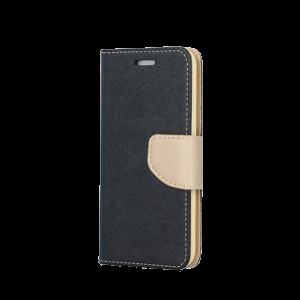 Θήκη Flip με Πορτάκι Fancy Book για Samsung A6 2018 - Μαύρο/Χρυσό