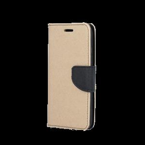 Θήκη Flip με Πορτάκι Fancy Book για Huawei Mate 20 Lite - Χρυσό / Μαύρο