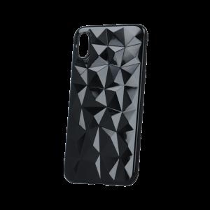 Θήκη Σιλικόνης Back Cover Geometric για iPhone X/XS - Μαύρο