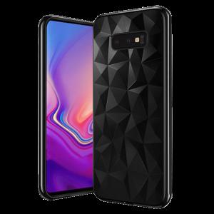 Θήκη Σιλικόνης Back Cover Geometric για Samsung S10e - Μαύρο
