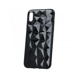 Θήκη Σιλικόνης Back Cover Geometric για Huawei Y5 (2018) - Μαύρο