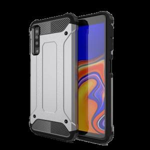 Θήκη Hybrid Armor Back Cover για Samsung Galaxy A7 2018 - Ασημί