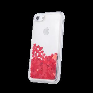Θήκη Liquid Heart TPU για Apple iPhone XS / X - Κόκκινο