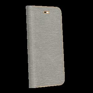 Θήκη Flip με Πορτάκι Luna Book για Xiaomi Redmi Note 8 - Γκρι