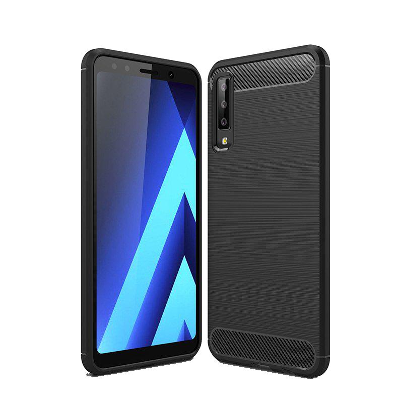 a3a241433449 Θήκη CARBON Back Cover για Samsung Galaxy A7 2018 - Μαύρο