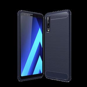 Θήκη CARBON Back Cover για Samsung Galaxy A7 2018 - Μπλε