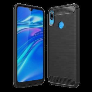 Θήκη Carbon Flexible Back Cover για Huawei Y7 2019 - Μαύρο