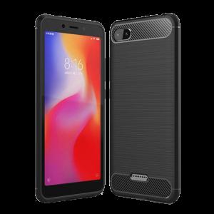 Θήκη Carbon Flexible Back Cover για Xiaomi Redmi 6A - Μαύρο
