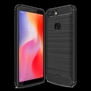 Θήκη Carbon Flexible Back Cover για Xiaomi Redmi 6 - Μαύρο