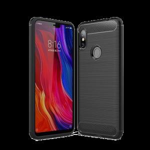 Θήκη Carbon Flexible Back Cover για Xiaomi Redmi Note 6 Pro - Μαύρο