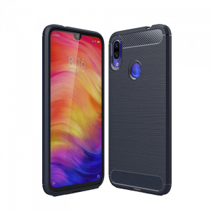 Θήκη Carbon Flexible Back Cover για Xiaomi Redmi Note 7 - Μπλε