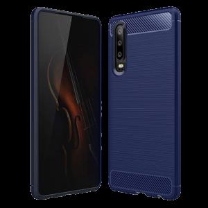 Θήκη Carbon Flexible Back Cover για Huawei P30 - Μπλε