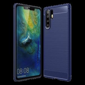 Θήκη Carbon Flexible Back Cover για Huawei P30 Pro - Μπλε