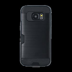 Θήκη Defender Card Back Cover για Samsung Galaxy J7 2017 - Μαύρο