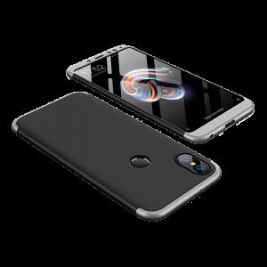 Θήκη Full Cover 360 για Xiaomi Redmi Note 5 Ai - Μαύρο / Ασημί