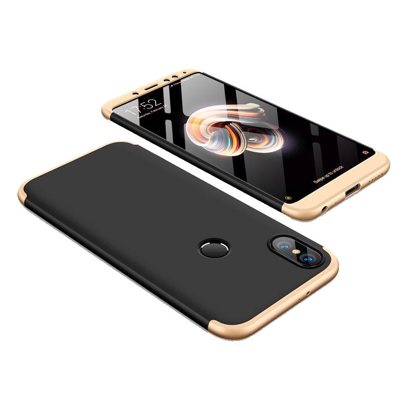 Θήκη Full Cover 360 για Xiaomi Redmi Note 5 Ai - Μαύρο / Χρυσό
