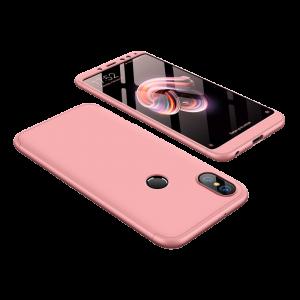 Θήκη Full Cover 360 για Xiaomi Redmi Note 5 Ai - Ροζ